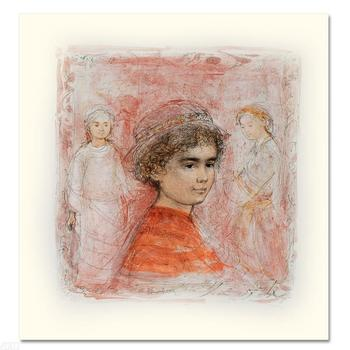 """Edna Hibel (1917-2014), """"Matthew"""" Limited Edition Lithograph, Numbered & Hand Signed with Certificate."""