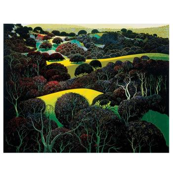 """Eyvind Earle (1916-2000), """"Santa Ynez Memories"""" Limited Edition Serigraph on Paper; Numbered & Hand-Signed; COA."""