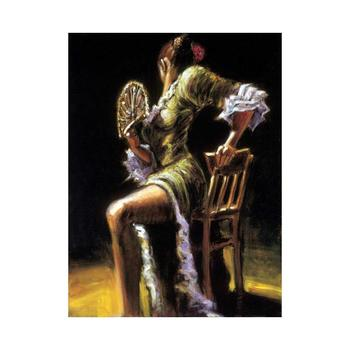 """Fabian Perez, """"Flamenco Dancer II"""" Hand Textured Limited Edition Giclee on Board. Hand Signed and Numbered AP 6/15"""