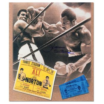"""Ken Norton and Ali Ticket"" Must-Have Sports Photo Collage Hand-Autographed by Ken Norton (1943-2013), with Certificate."