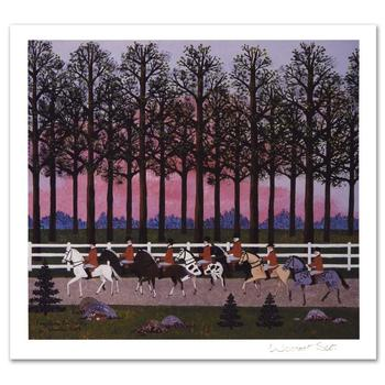"""Jane Wooster Scott, """"Foxy Gives 'Em The Slip"""" Ltd Ed Lithograph, Numbered and Hand Signed with Certificate."""
