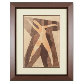 Neal Doty (1941-2016), Framed Original Mixed Media Linocut, Hand Signed with Certificate of Authenticity.