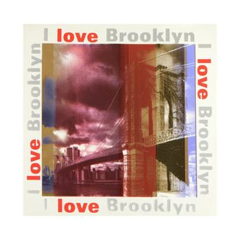 "Steve Kaufman (d.2010), ""I Love Brooklyn"" Limited Edition Hand Pulled Silkscreen on Canvas, No. 5/50 & Hand Signed with COA."