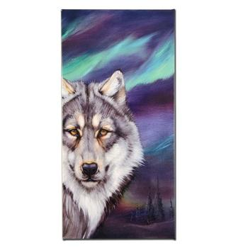 """Wolf Lights"" Ltd Ed Giclee on Gallery Wrapped Canvas by Martin Katon, Numbered and Hand Signed."