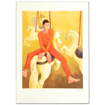 "Daniel Riberzani, ""Carousel"" Ltd Ed Lithograph, Numbered and Hand Signed with Certificate."