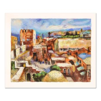 "Slava Brodinsky, ""Jerusalem"" Limited Edition Serigraph, Numbered and Hand Signed with Certificate of Authenticity."