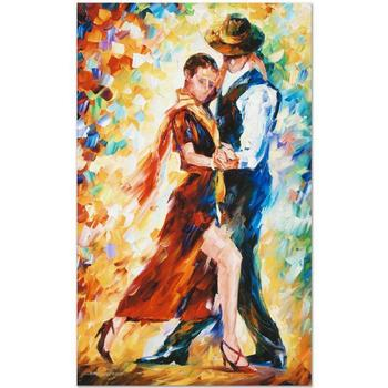 "Leonid Afremov (1955-2019) ""Romantic Tango"" Limited Edition Giclee on Gallery Wrapped Canvas, Numbered and Signed."