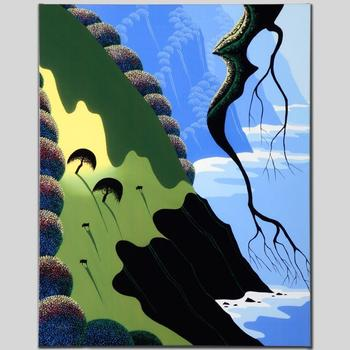 "Larissa Holt, ""Coast and Cows"" Ltd Ed Giclee on Gallery Wrapped Canvas, Numbered and Signed."