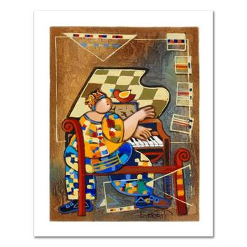 "Dorit Levi, ""The Grand Piano"" Limited Edition Serigraph, Numbered and Hand Signed with Certificate of Authenticity."