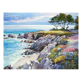 "Howard Behrens (1933-2014), ""Monterey Bay, After The Rain"" Ltd Ed on Canvas, Numbered and Signed with Certificate."