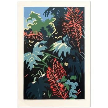 """Jon Carsman (1944-1987)! """"Red Bursts"""" Ltd Ed Serigraph, Numbered and Hand Signed with Certificate! $995"""