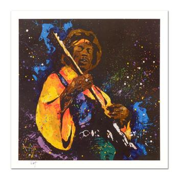 """KAT, """"Hendrix"""" Limited Edition Lithograph, Numbered and Hand Signed with Certificate of Authenticity."""