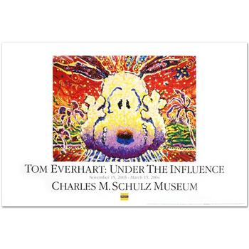 """""""Nobody Barks in LA"""" Fine Art Poster by Renowned Charles Schulz Protege Tom Everhart."""