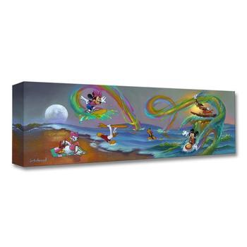 """""""Mickey's Crazy Wave"""" Limited edition gallery wrapped canvas by Jim Warren from the Disney Treasures collection; with COA."""