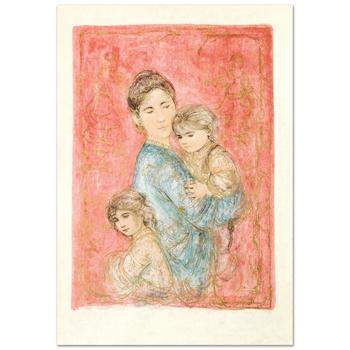 """Edna Hibel (1917-2014), """"Sonya and Family"""" Limited Edition Lithograph, Numbered and Hand Signed with Certificate."""
