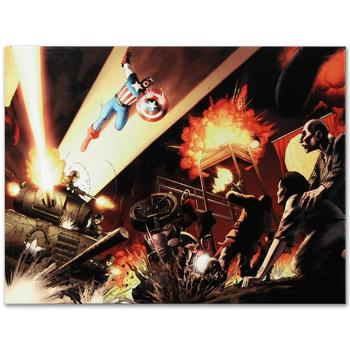 """Marvel Comics """"Fallen Son: Death of Captain America #5"""" Numbered Limited Edition Canvas by John Cassaday; Includes COA."""