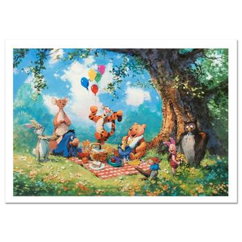 """James Coleman, """"Splendiferous Picnic"""" Ltd Ed Lithograph, Numbered and Hand Signed with Certificate of Authenticity."""