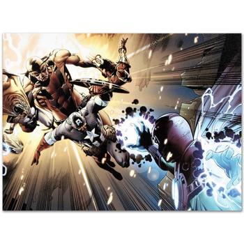 "Marvel Comics ""Captain America: Man Out Of Time #5"" Numbered Limited Edition Canvas by Bryan Hitch; Includes COA."