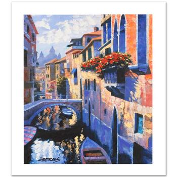 "Howard Behrens, ""Magic of Venice III"" Ltd Ed Embellished Giclee on Canvas Numbered and Hand Signed w/Cert."