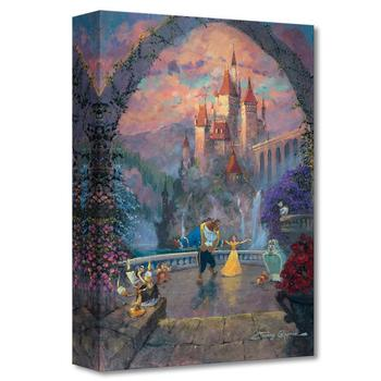 """Beast and Belle Forever"" Limited edition gallery wrapped canvas by James Coleman from the Disney Treasures collection."
