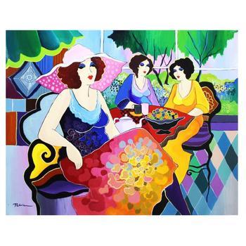 """Patricia Govezensky, """"Harmony"""" Hand Signed Original Acrylic on Canvas; COA"""