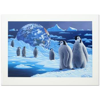 """William Schimmel, """"Antarctica's Children"""" Ltd Ed Serigraph, Numbered and Hand Signed with Certificate."""