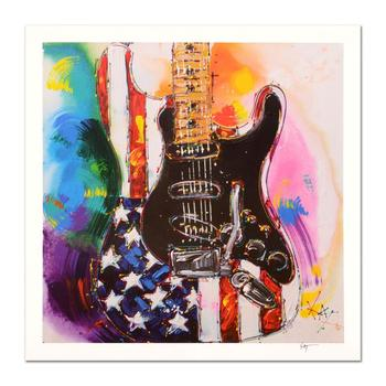 """KAT, """"American Stratocaster"""" Limited Edition Lithograph, Numbered and Hand Signed with Certificate of Authenticity."""