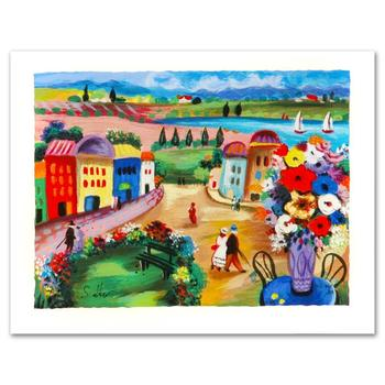 """Shlomo Alter, """"Spring Day"""" Limited Edition Serigraph, Numbered and Hand Signed with Certificate."""