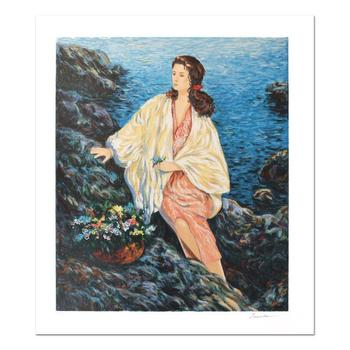"""Igor Semeko, """"Beauty by the Seaside"""" Hand Signed Limited Edition Serigraph with Letter of Authenticity."""