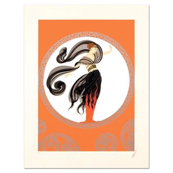 """Erte (1892-1990), """"Flames of Love"""" Limited Edition Serigraph from an AP Edition, Hand Signed with Certificate of Authenticity."""