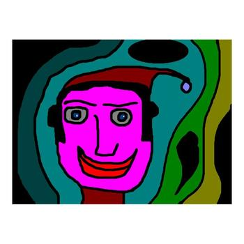 """Ringo Starr, """"Clown"""" Limited Edition Serigraph, Numbered and Hand-Signed with Certificate."""