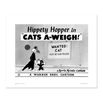 """""""Cats-A-Weigh (Wanted Cat)"""" Numbered Limited Edition Giclee from Warner Bros. with Certificate of Authenticity."""