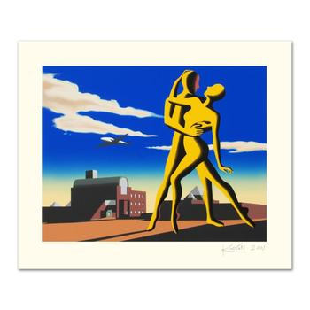 """Mark Kostabi, """"Yesterday's Here"""" Limited Edition Serigraph, Numbered and Hand Signed with Certificate."""