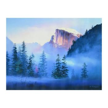"""H. Leung, """"Yosemite Morning"""" Limited Edition on Canvas, Numbered and Hand Signed with Letter of Authenticity."""