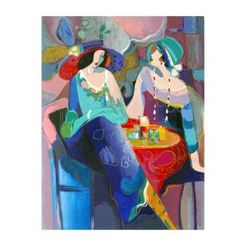 """Isaac Maimon, """"Pastel Gathering"""" Limited Edition Serigraph, Numbered and Hand Signed with Letter of Authenticity."""