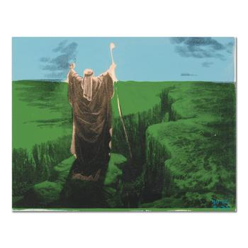 """Ringo, """"Moses"""" One-of-a-Kind Hand Pulled Silkscreen & Mixed Media on Canvas, Hand Signed with COA."""