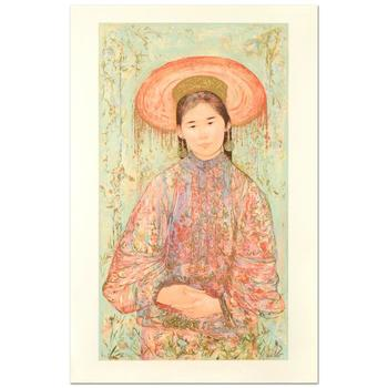 """Edna Hibel (1917-2014), """"Fine China"""" Ltd Ed Lithograph, Numbered and Hand Signed with Certificate of Authenticity."""