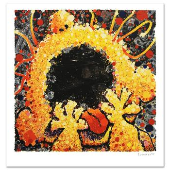 """Tom Everhart, """"Black Velvet Scream"""" Ltd Ed Hand Pulled Original Lithograph Numbered and Hand Signed, with Cert."""