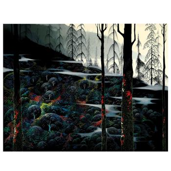 """Eyvind Earle (1916-2000), """"Dawns First Light"""" Limited Edition Serigraph on Paper; Numbered & Hand-Signed; COA."""
