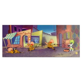 """Chuck Jones """"Rabbit Of Seville"""" Hand-Signed Hand-painted Limited Edition Sericel."""