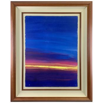 """Wyland, """"Untitled"""" Original Painting; Hand Signed and Framed (with Koa Wood Fillet); Certificate of Authentiticty."""