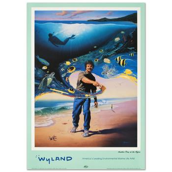 """Wyland, """"Another Day at the Office"""" Poster."""