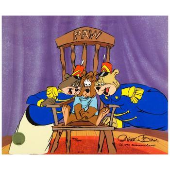 "Chuck Jones (1912-2002), ""Bear For Punishment"" Ltd Ed Animation Cel. No. & Hand Signed w/Hand Painted Color w/Cert."