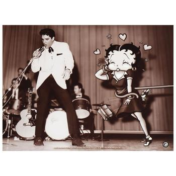 """""""Starstruck Betty (with Elvis)"""" Ltd Ed Lithograph from King Features Syndicate, Inc., Numbered with COA."""
