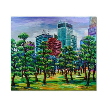 """Yana Rafael """"Trees In Bloom"""" Hand Signed Original Painting on Canvas with COA"""