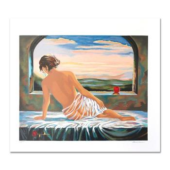 """Alexander Borewko, """"Sweet Morning"""" Hand Signed Limited Edition Serigraph with Letter of Authenticity."""