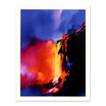 """Thomas Leung, """"Fire Cliffs"""" Limited Edition, Numbered and Hand Signed with Letter of Authenticity."""