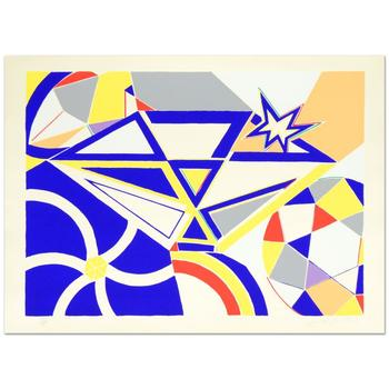 """Martin Knox, """"Diamond"""" Ltd Ed Serigraph, Numbered and Hand Signed with Certificate."""