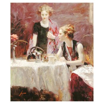 """Pino (1931-2010), """"After Dinner"""" Limited Edition on Canvas, Numbered and Hand Signed with Certificate of Authenticity."""