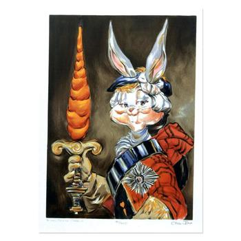 """Chuck Jones """"Bunny Prince Charlie"""" Hand-Signed Limited Edition Fine Art Stone Lithograph."""
